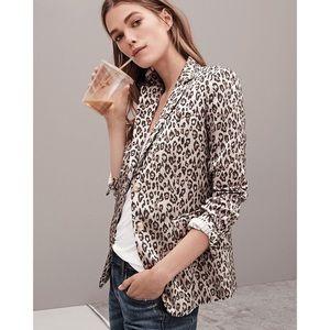 Banana Republic | Leopard Print Long & Lean Blazer